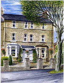 Watercolour of exterior