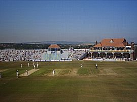 Our view of the cricket ground