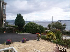 The patio and Firth of Clyde