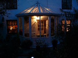 The conservatory at night