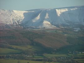 Black Mountains in Winter