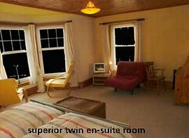 The superior room with breathtaking views