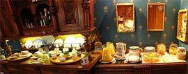 The large breakfast buffet