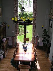 Dining room from balcony