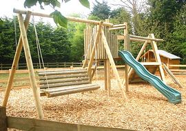 Children's playarea at Burcott Mill