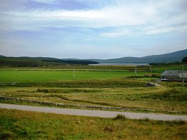 a view over Loch Naver