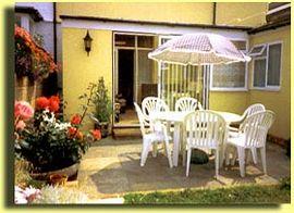 Rear patio & smoking area