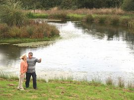 Guests enjoying our ponds