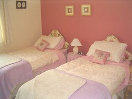 Pink twin ensuite