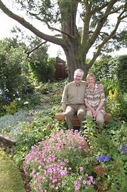 Douglad and Agnes in the garden