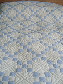 Detail of bed quilt