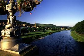 Peebles and River Tweed