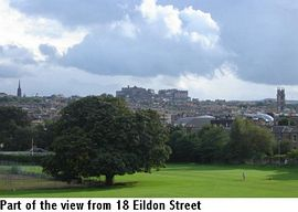 The view of Edinburgh Castle from your house