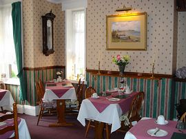 Our comfortable dining room