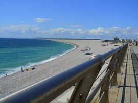 A stone's throw from Chesil Beach