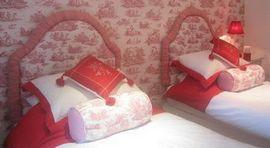 Rouge Toile de Jouy Room
