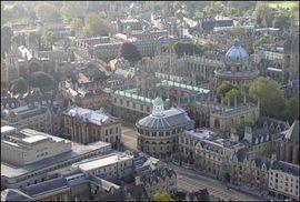An air view of Oxford