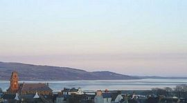 Wigtown with sea views in the evening