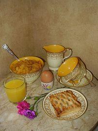 A wonderful breakfast.