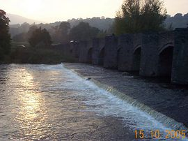 Crickhowell Bridge at Sunset