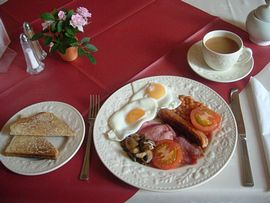 A superb, freshly cooked breakfast
