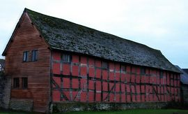 side photo of the barn