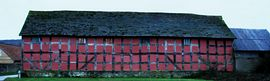 full length photo of the side of the barn