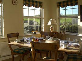 Breakfast in the sun lounge on warmer days.