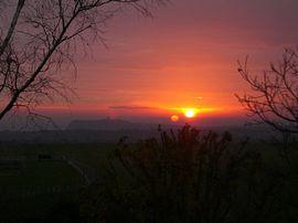 Sunrise at Scalby Hayes.
