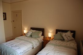 ground floor twin bedded room with ensuite