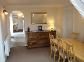 Hallway and extra dining area.