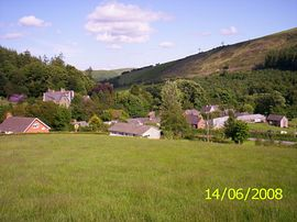 View of Abbey Cwmhir