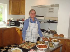 Lesley in her kitchen