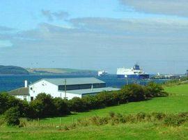 Looking over building towards Loch Ryan