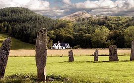 View of house from standing stones