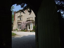 Castle House Through Garden Door