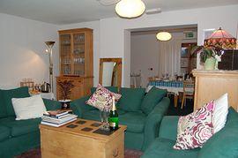 Comfy guest lounge
