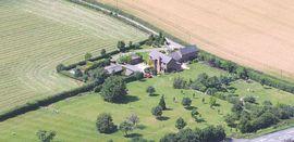 The Hoo Farm from the air