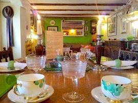 Stylish Candlelit Art Deco Breakfast Setting