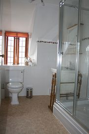 Shower room in family suite upstairs