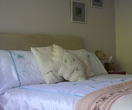 Downstairs king sized bed