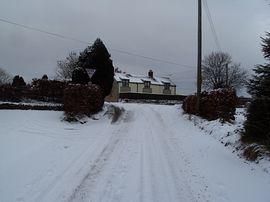 Tilleys cottage in the snow