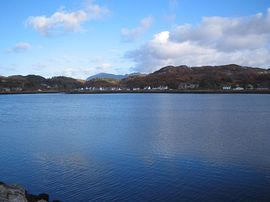 Lochinver from the harbour