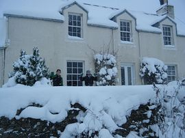 Snowy Wollrig Farmhouse