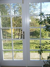 View from the cottage next to the farmhouse