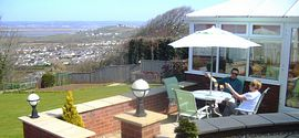 Garden & Patio with Stunning Sea Views