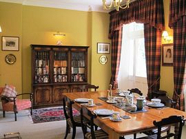 Breakfast is served in the dining room.