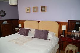 A double bedroom at Exmoor House