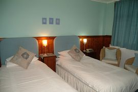 A twin bedroom at Exmoor House