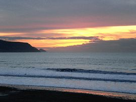 Sunset over Widemouth Bay